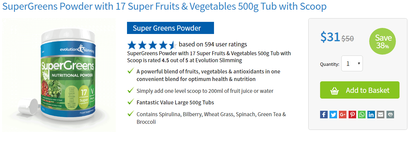 buy SuperGreens Powder