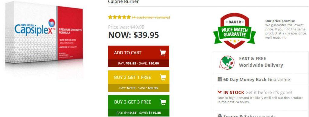 Capsiplex Prices cheapest