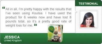 Kou Tea slimming tea testimonials