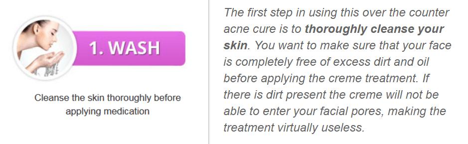 washing_your_face before using Acnezine