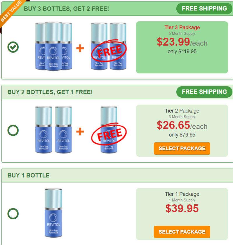 Revitol Skin Tag Remover Price