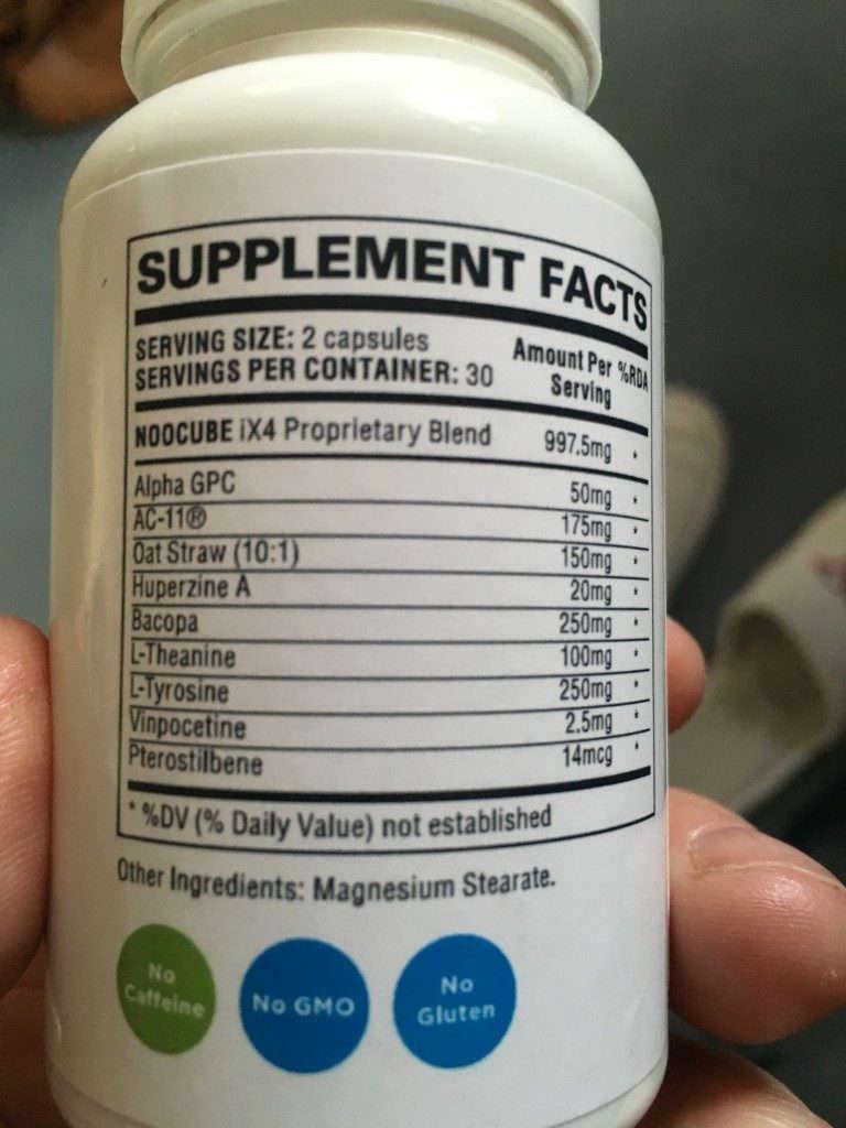 noocube-brain booster ingredients