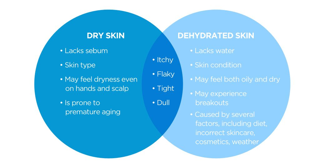 DRY-vs-DEHYDRATED-DULL SKIN